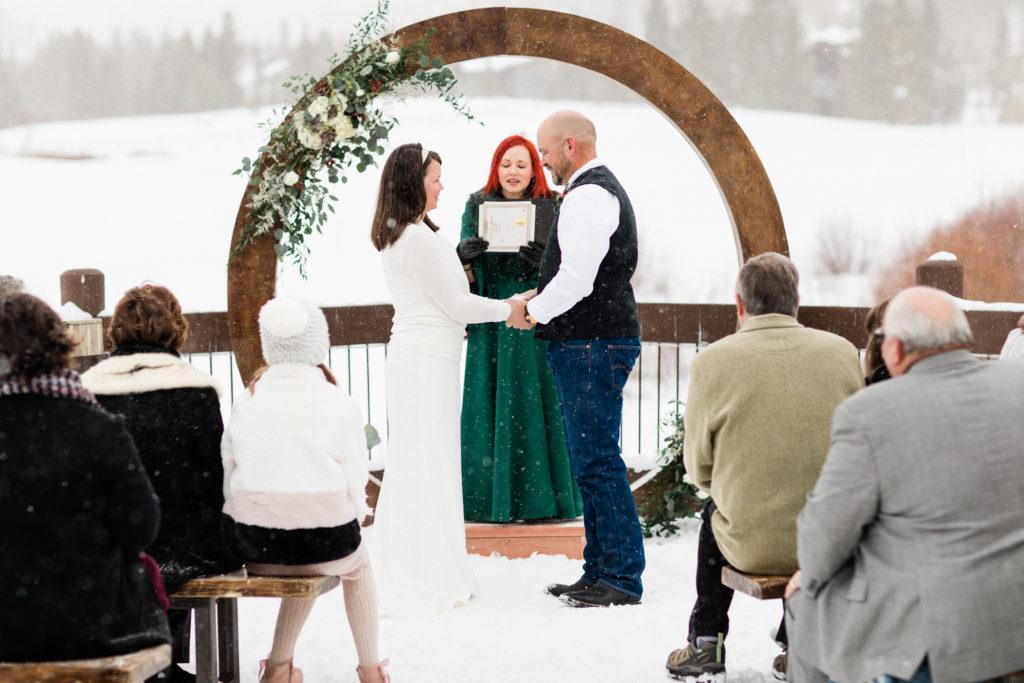 Sara and Kevin Breckenridge Golf Club Winter Wedding Photography