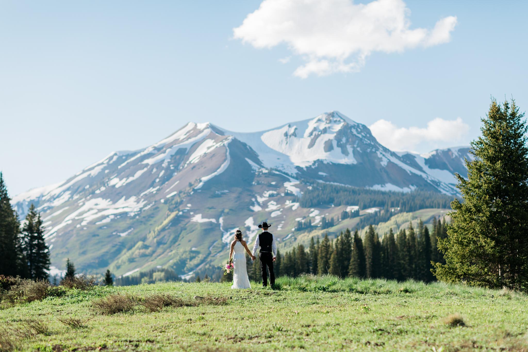 Crested Butte Mountain Wedding Garden