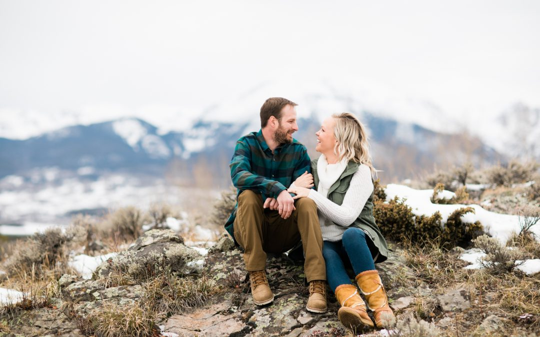 Lake Dillon Colorado Winter Engagement Photographer
