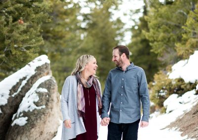 Lake Dillon Colorado Winter Engagement Session 22