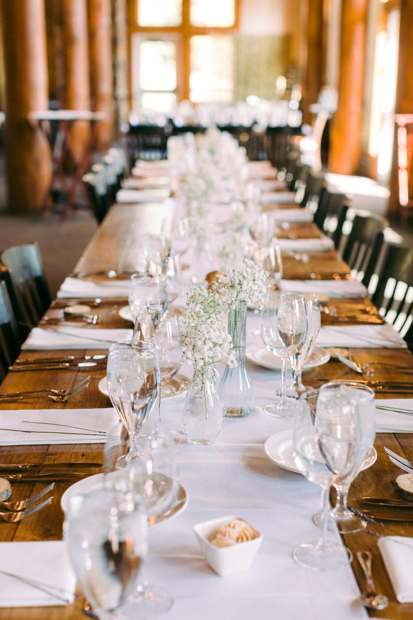 Timber Ridge Lodge Keystone Colorado Summer Wedding Table Setting