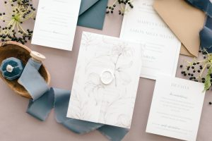Flatlay Wedding Invitation Suite