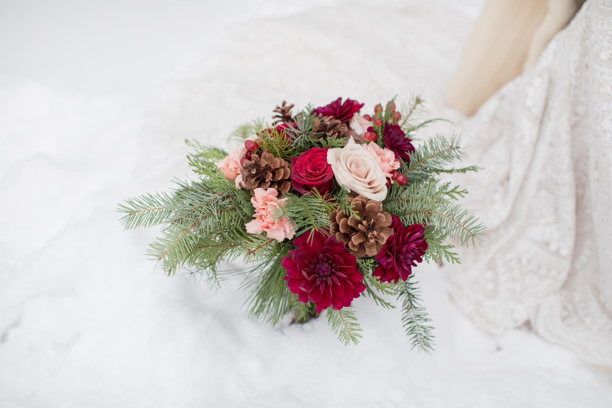 Lodge at Breckenridge Winter Wedding Bouquet