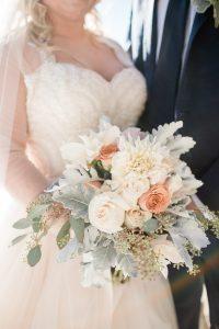 Sapphire Point Winter Wedding Bouquet