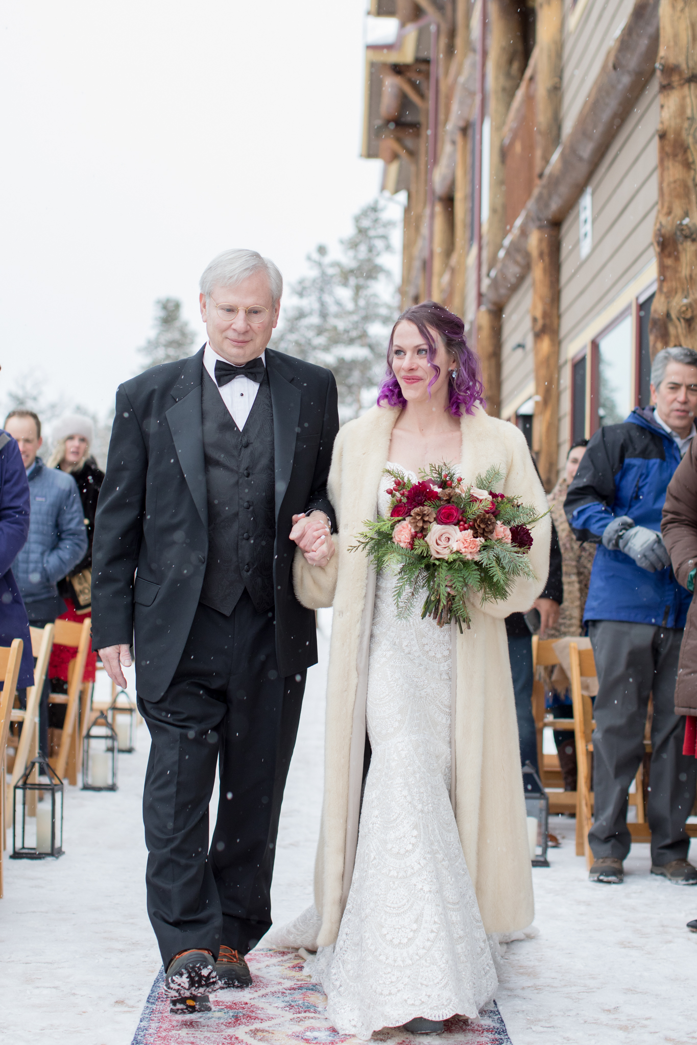 winter wedding lodge at breckenridge
