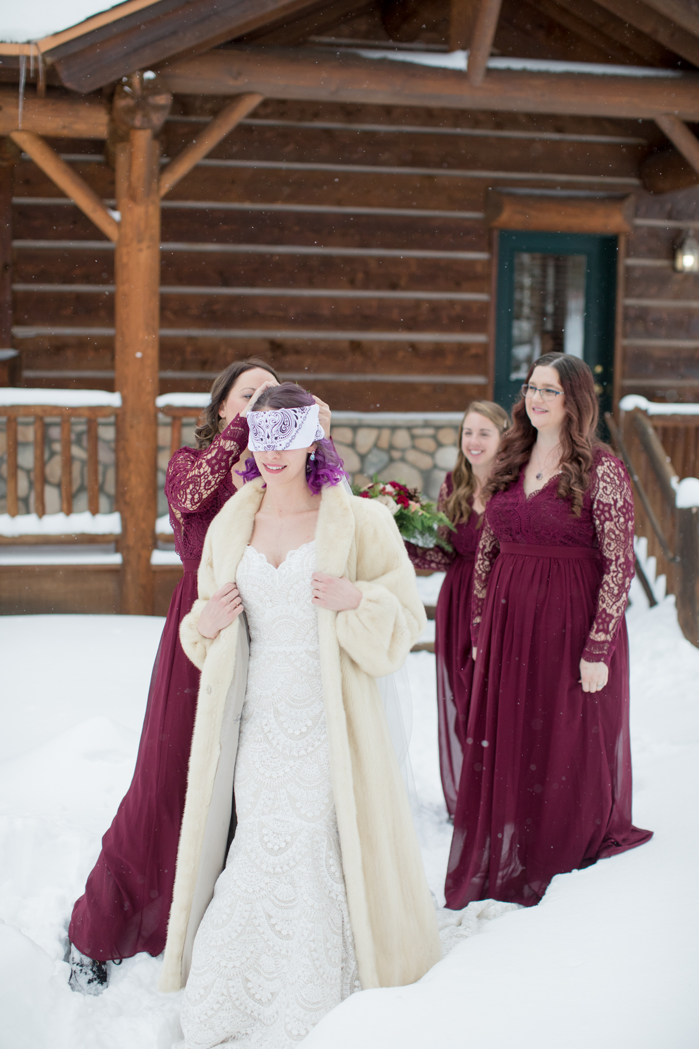 getting ready winter wedding breckenridge