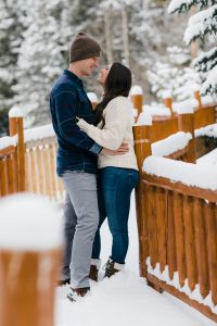 India and Matt first time seeing snow Colorado