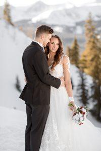 Taylor and Kenneth Winter Wedding Portraits Breckenridge CO