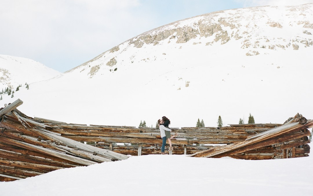 Winter Engagement Session Breckenridge Colorado