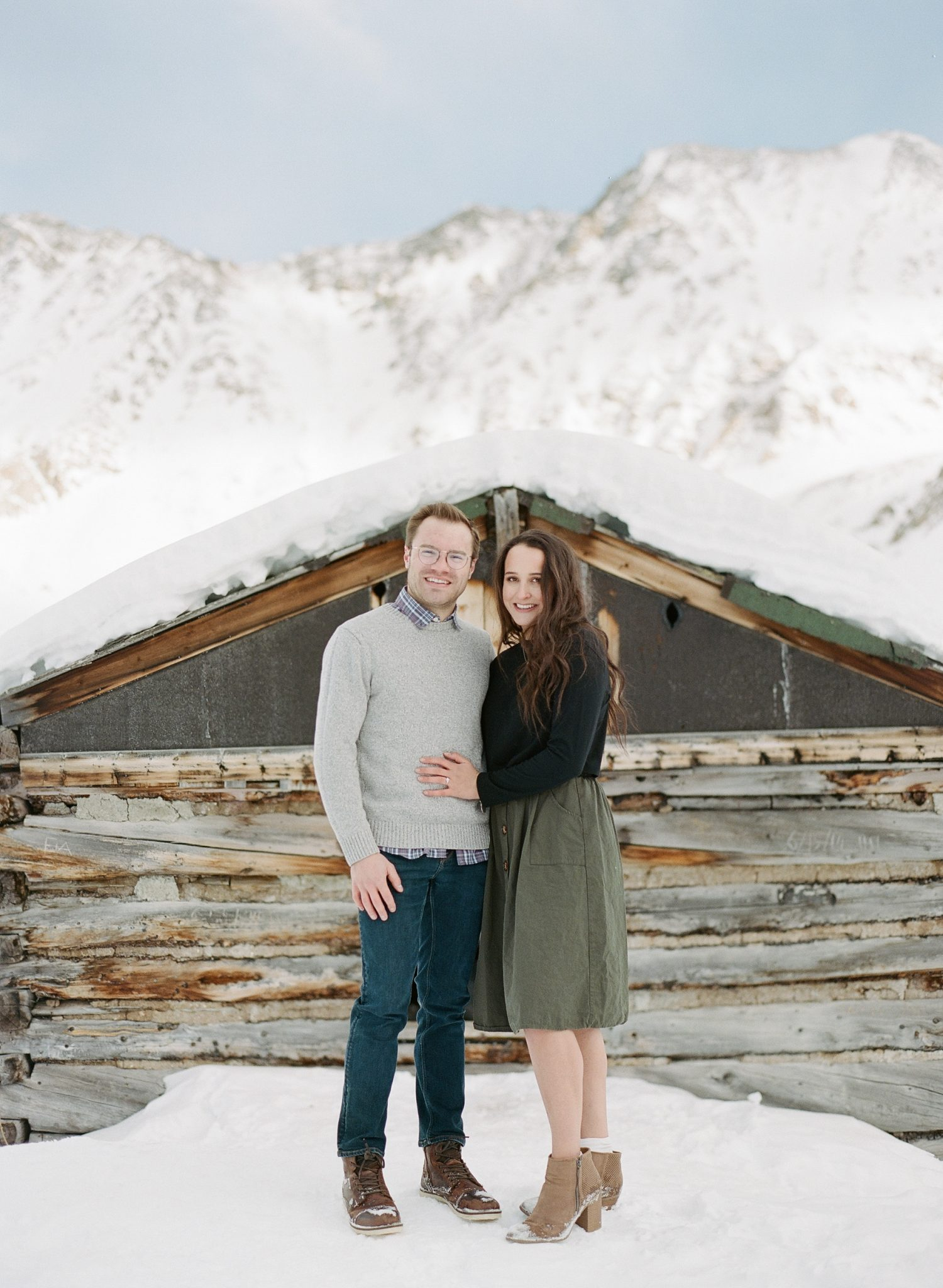 colorado engagement photographer mayflower gulch in winter 8