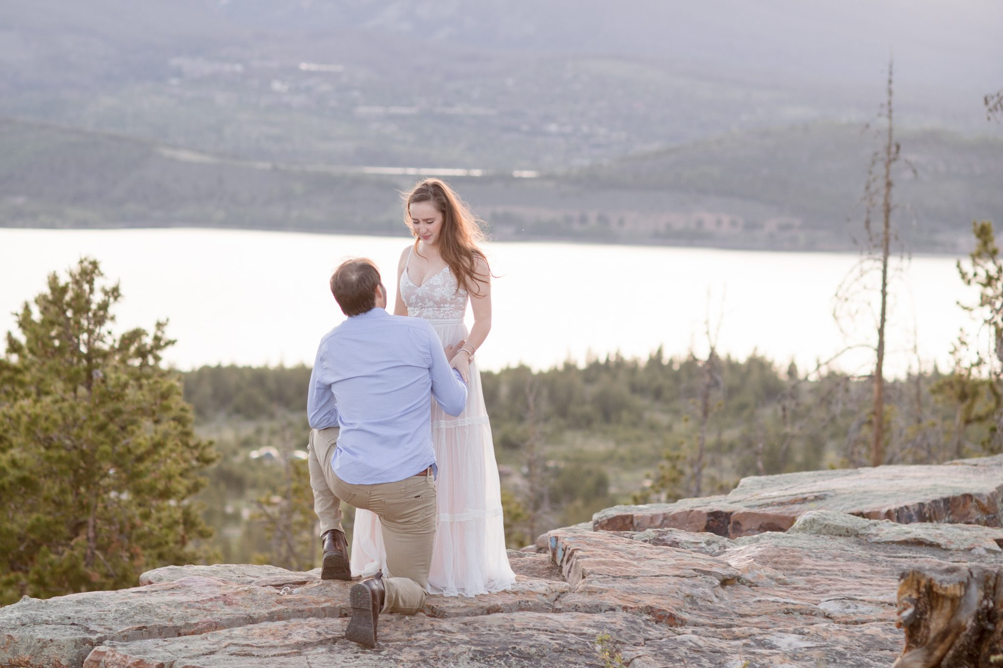 Lake Dillon in the Background of this surprise proposal in Colorado
