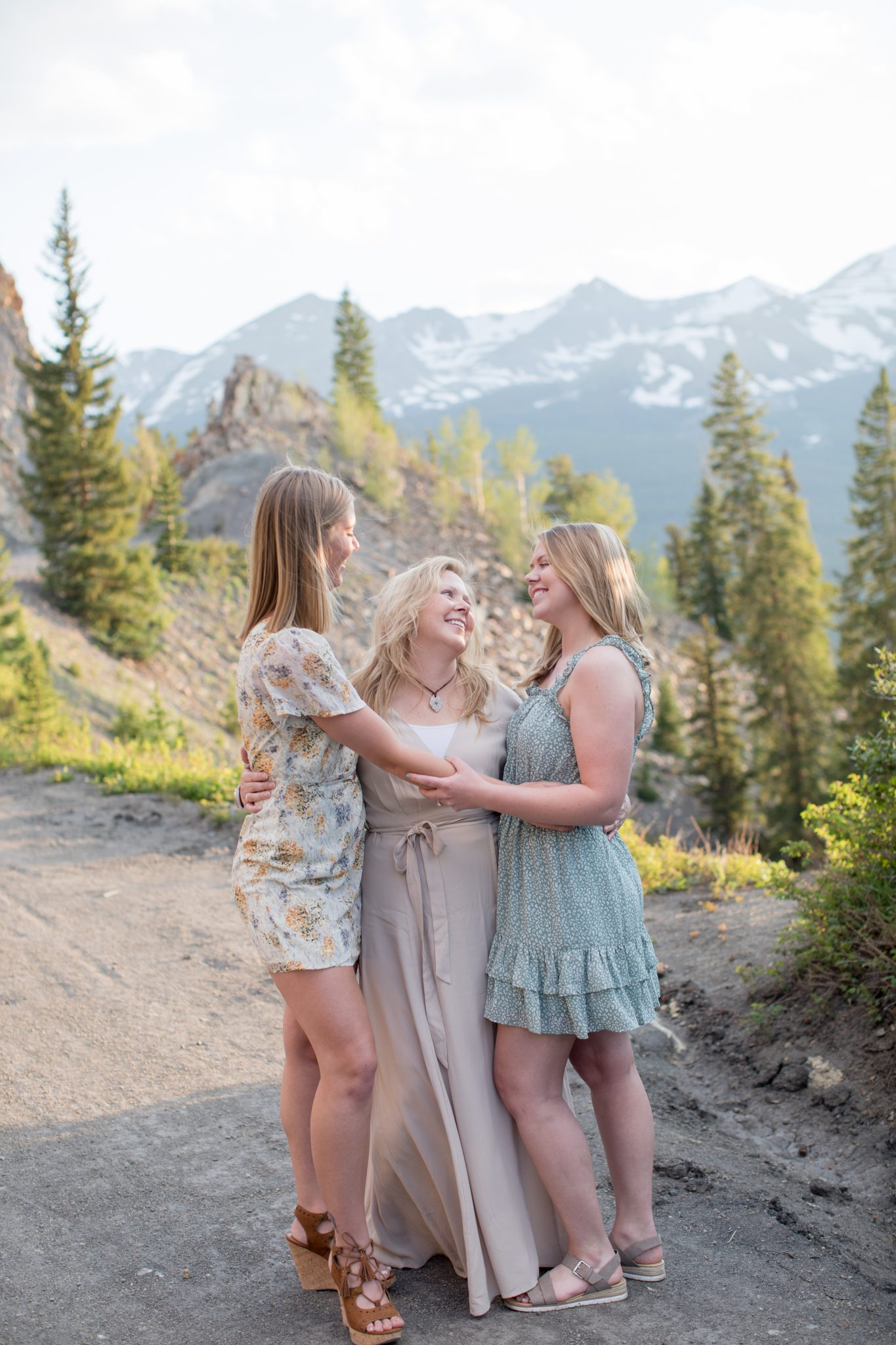 mother daughter pictures during professional family portrait photography session in Breckenridge Colorado