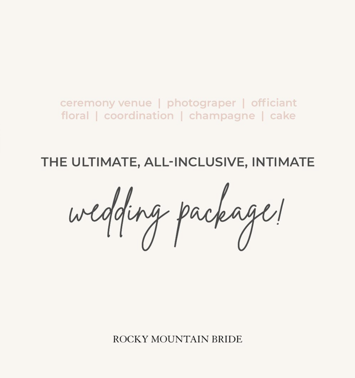 RMB Ad for Intimate Wedding in Breckenridge