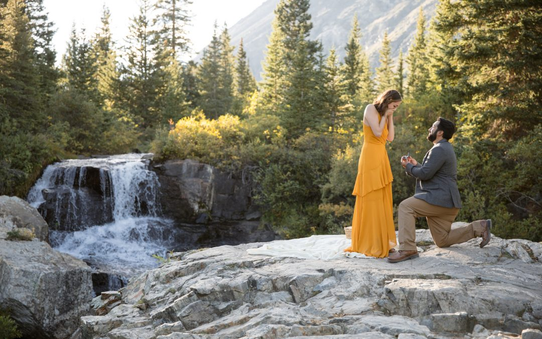 Surprise Engagement Photo Session at Blue Lakes