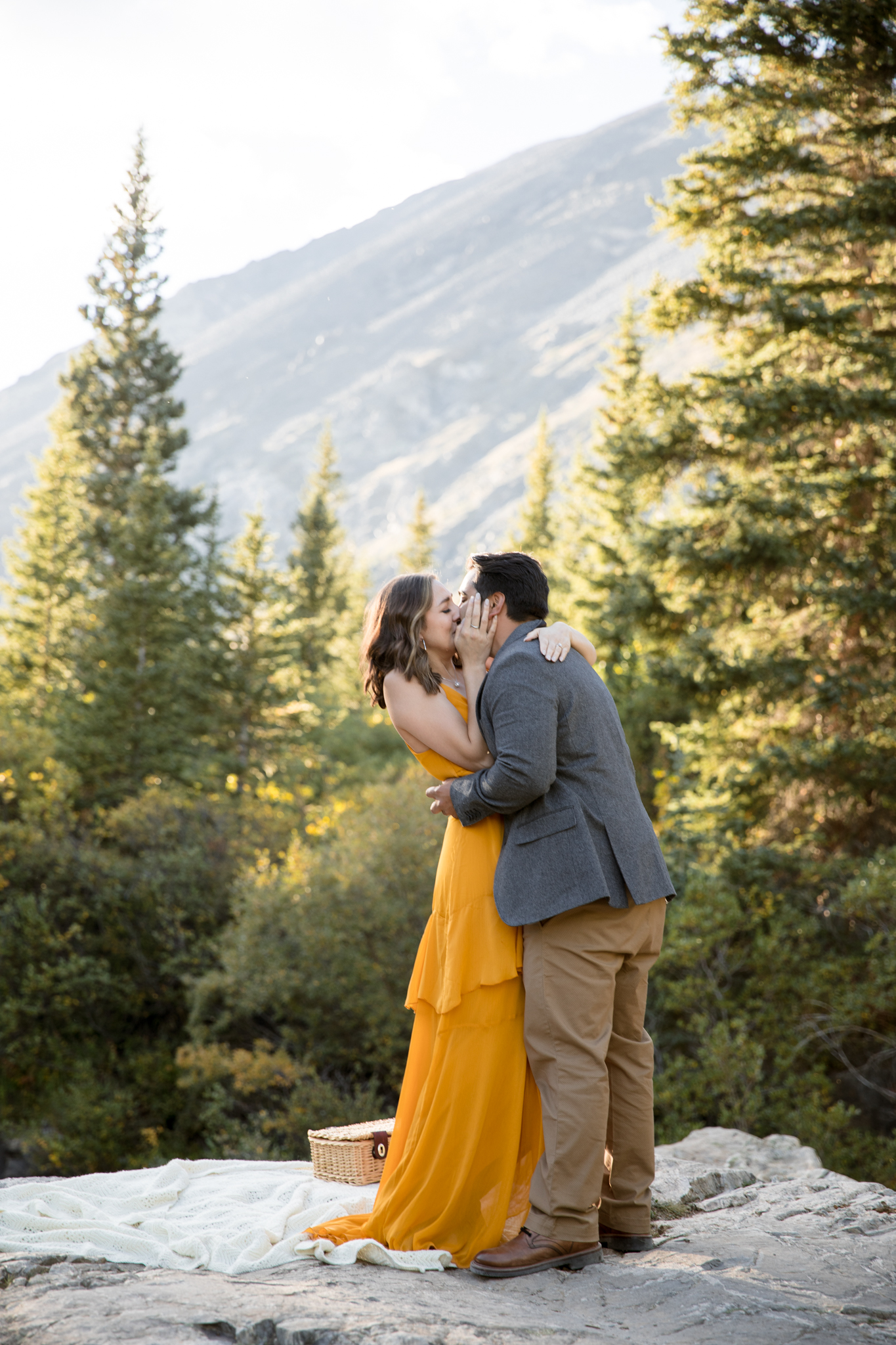Outdoor Proposal Photo Session Colorado