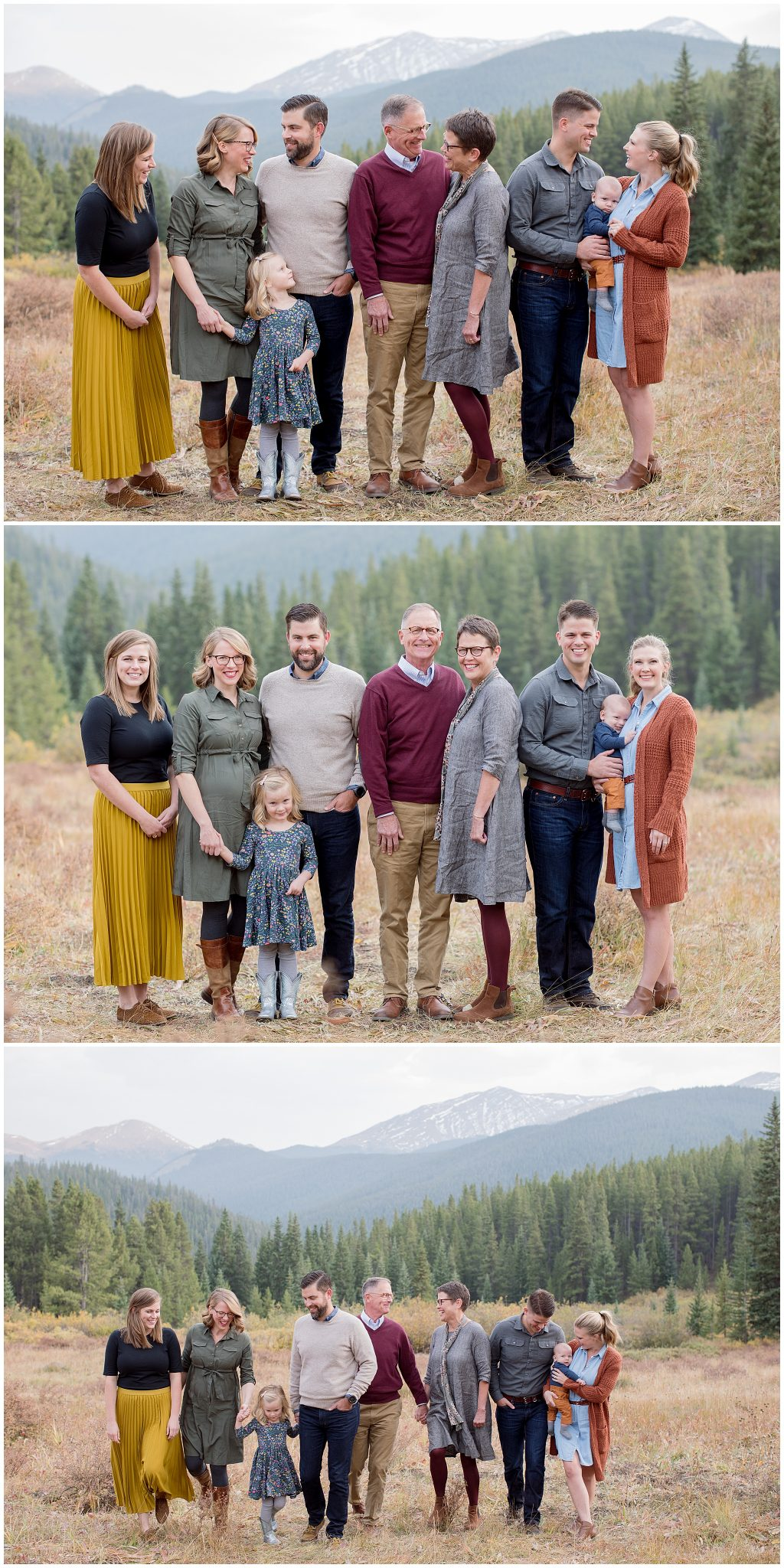 What to wear to a fall family session in Breckenridge