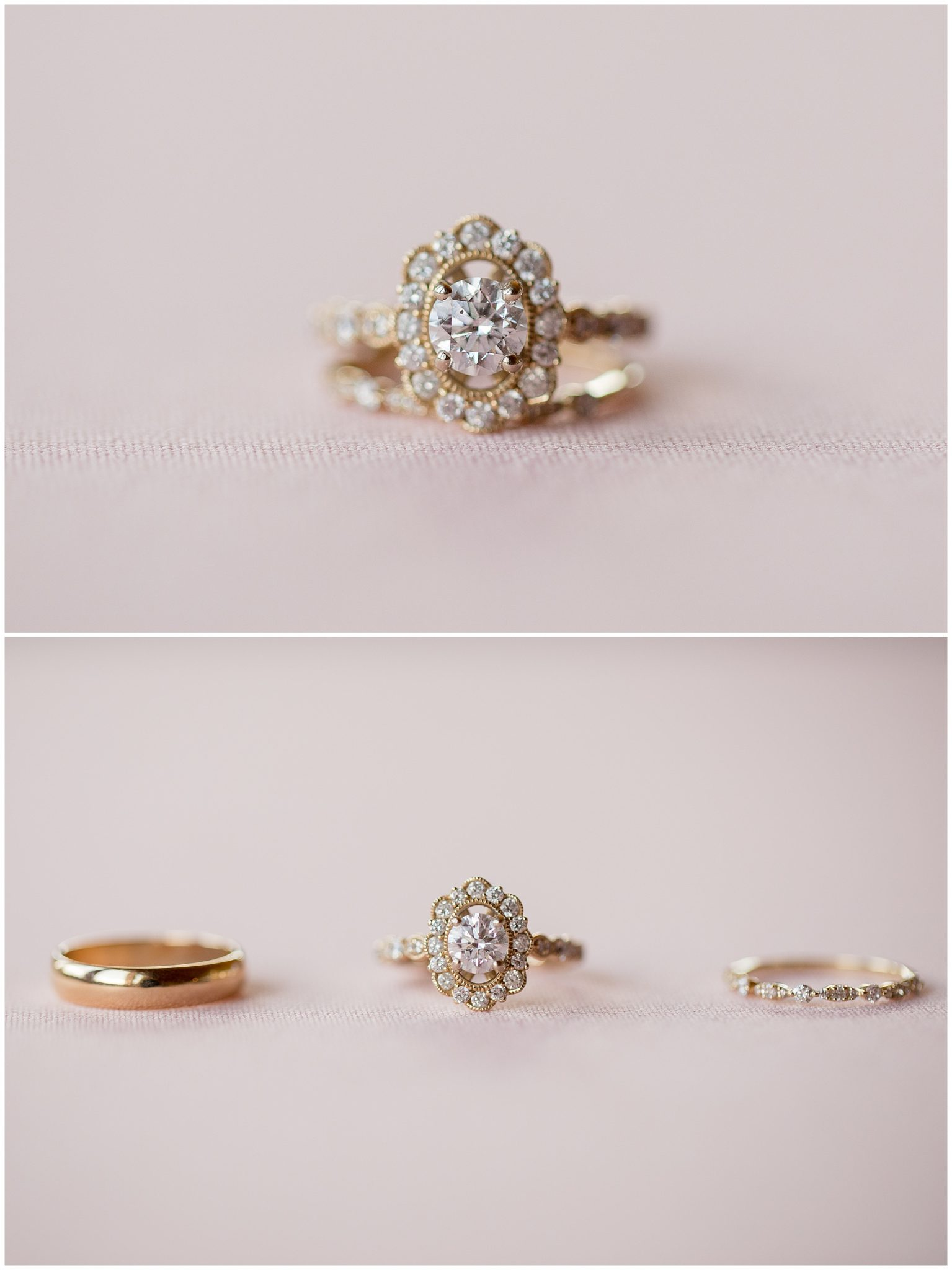 Ring shots of a small intimate wedding in Breckenridge Colorado