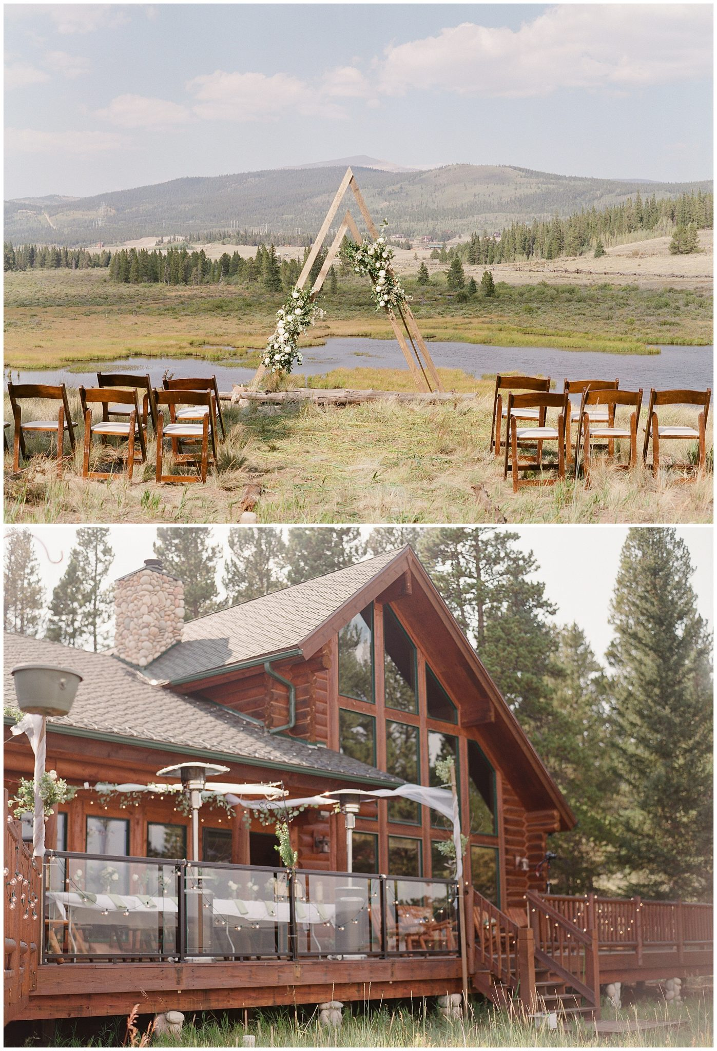 Ceremony Details at an Airbnb VRBO Home Rental Wedding