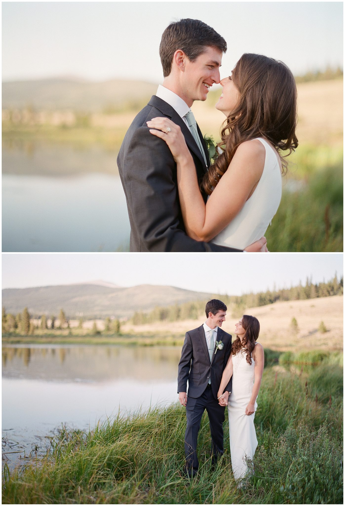 Bride and Groom Portraits shot on Film in Breckenridge Colorado
