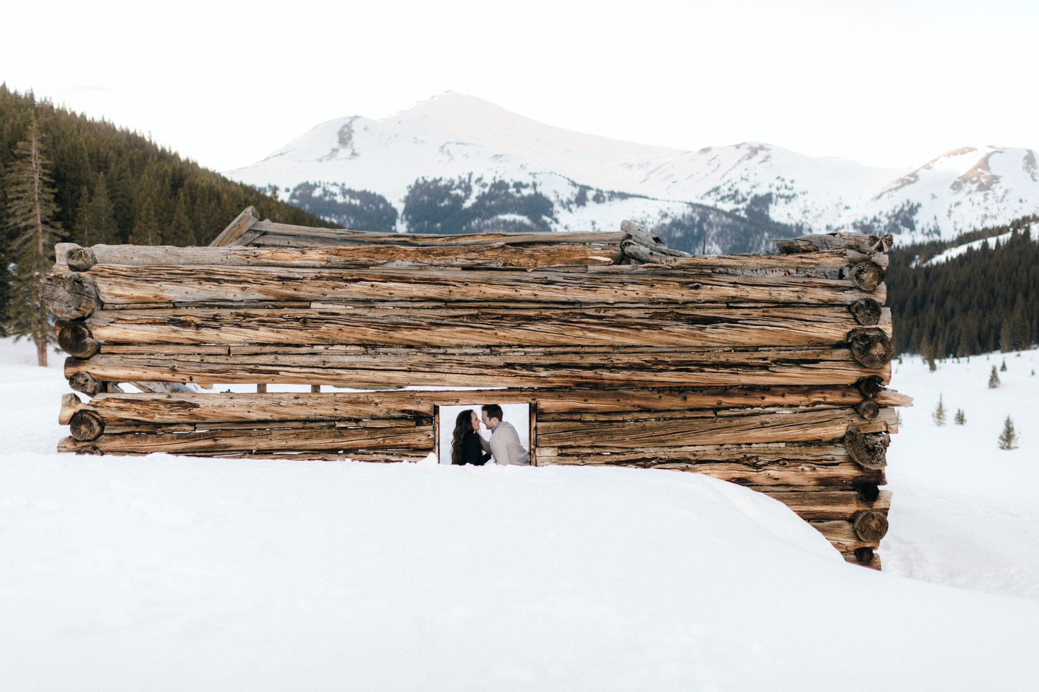 colorado engagement photographer mayflower gulch in winter 5