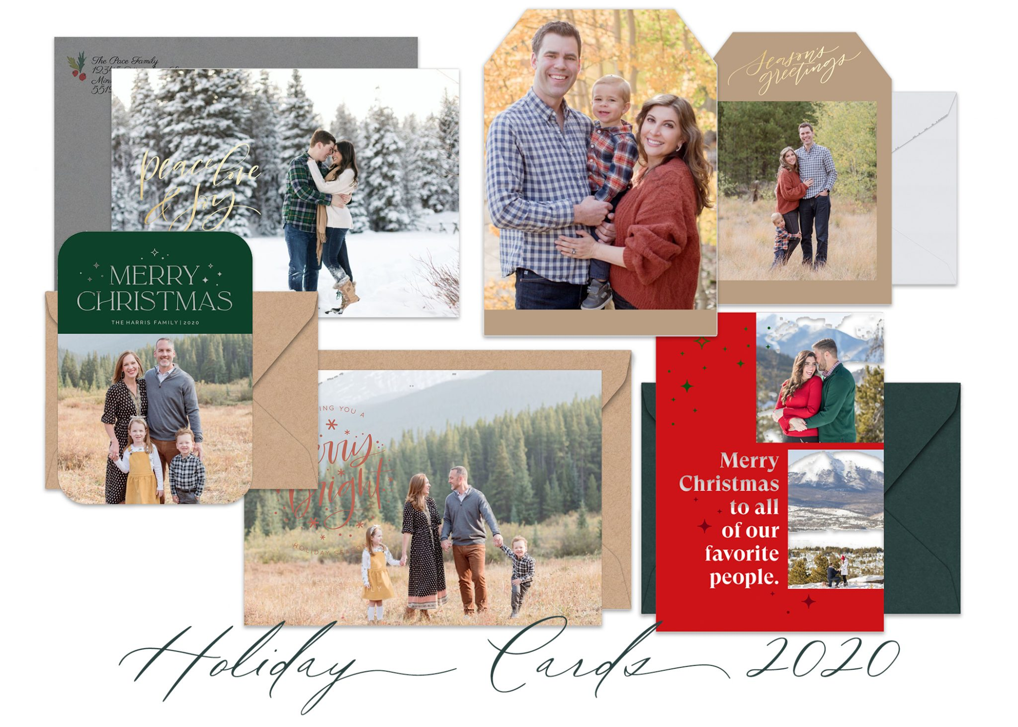 Semi Custom Holiday Card Samples 2020