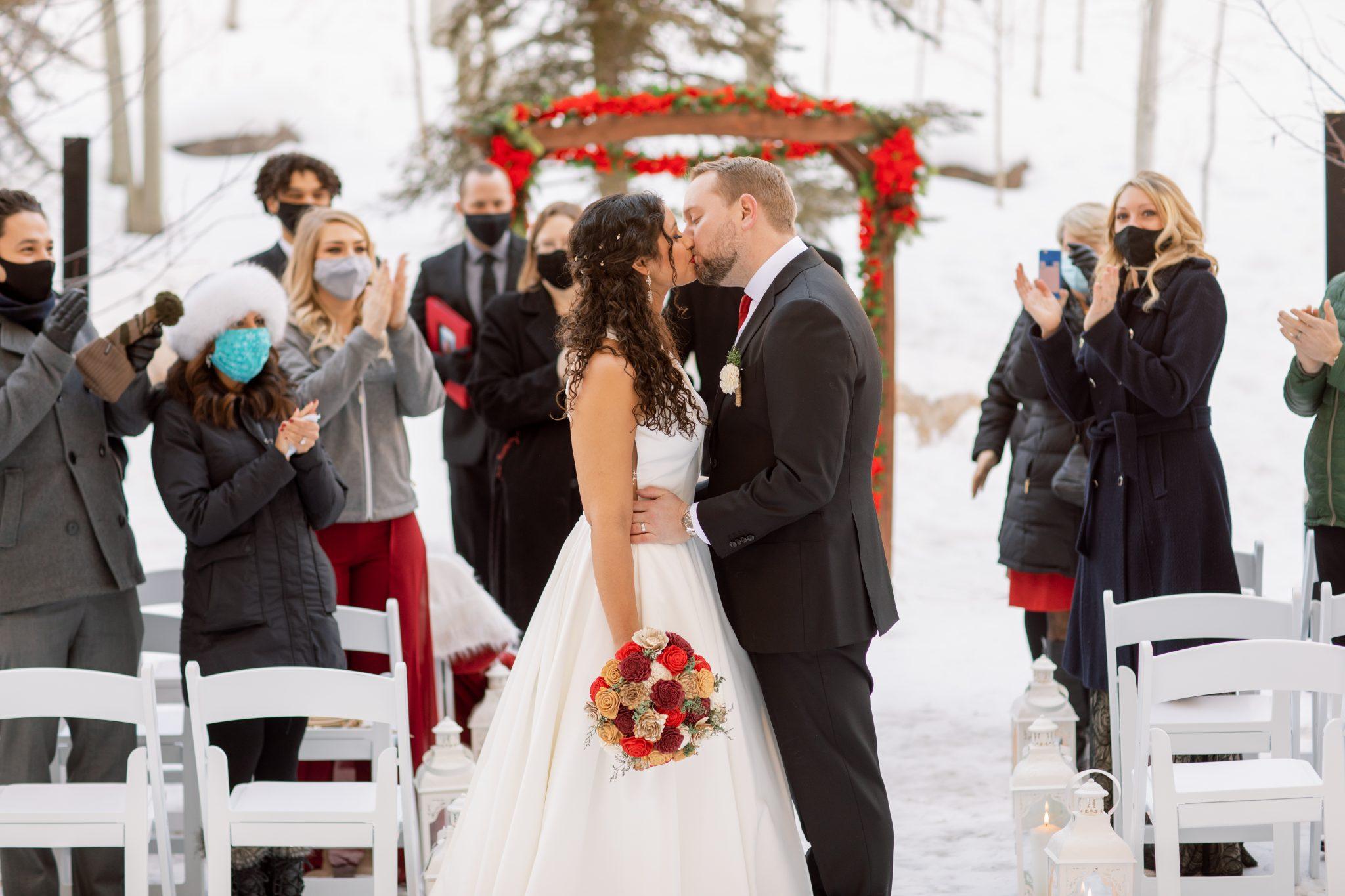 Covid Wedding in Beaver Creek Colorado 2020