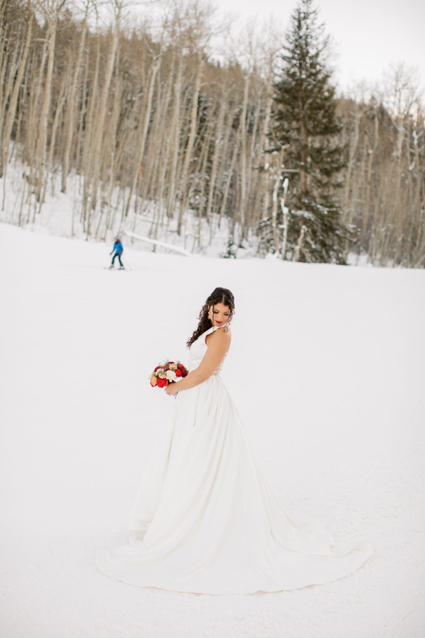 Winter Wedding with skiing at Beaver Creek Ski Resort