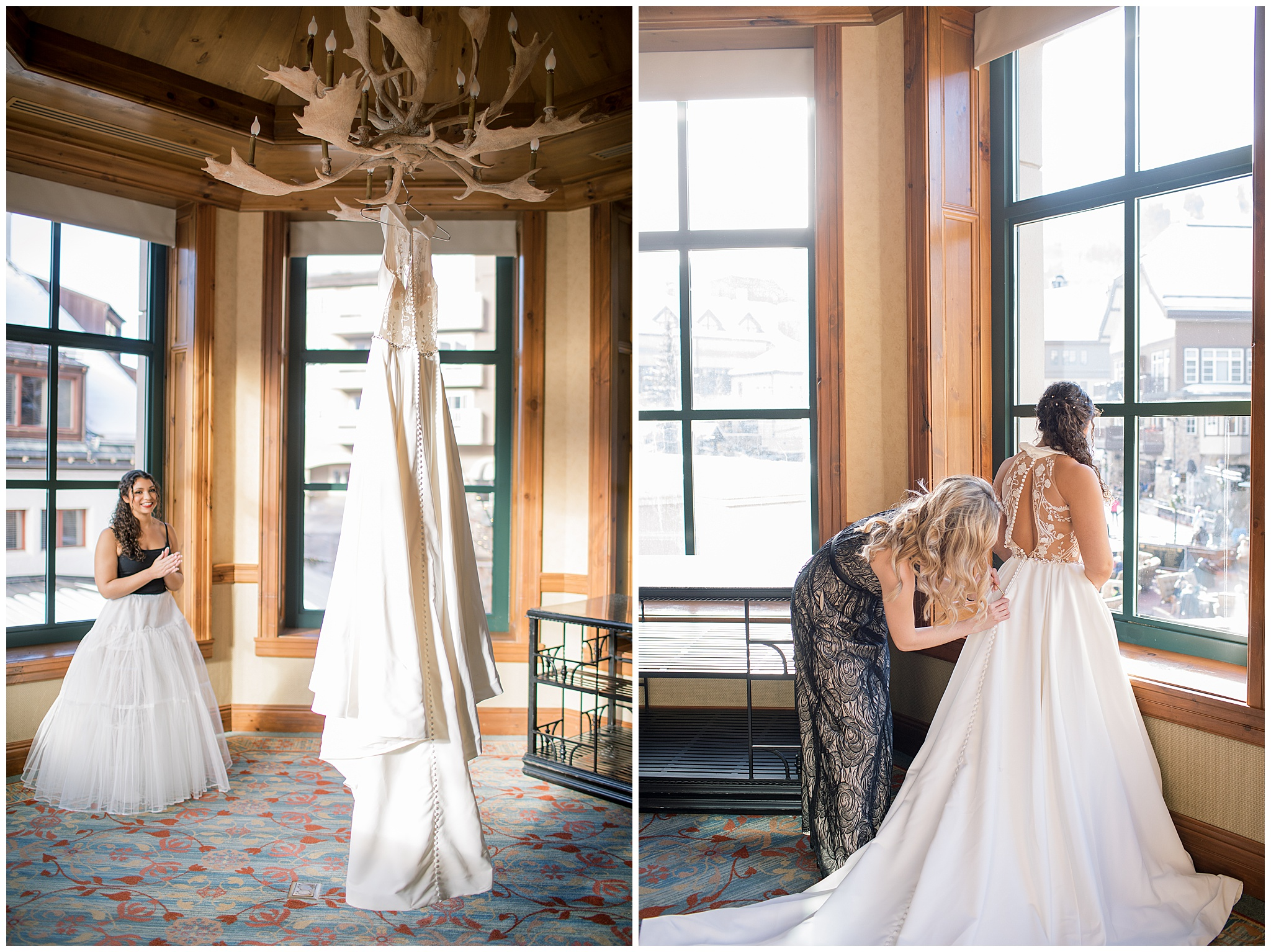 Bride Getting Ready at The Park Hyatt Beaver Creek