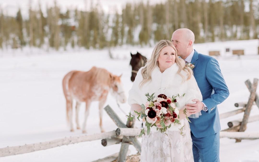 Devil's Thumb Ranch Winter Wedding in Tabernash, Colorado