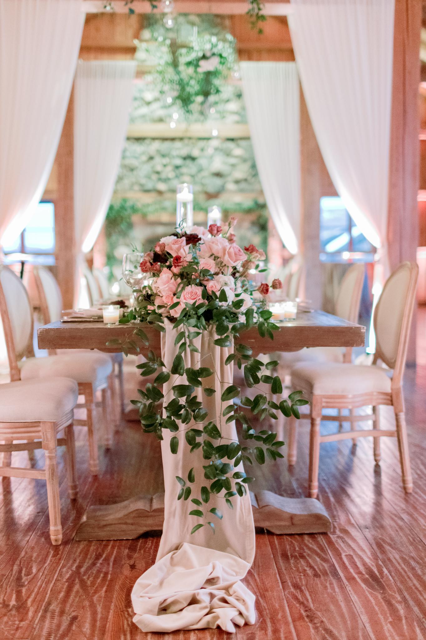 Devils-Thumb-Ranch-Tabernash-Colorado-Winter-Broad-Axe-Barn-Reception-Table-Centerpieces
