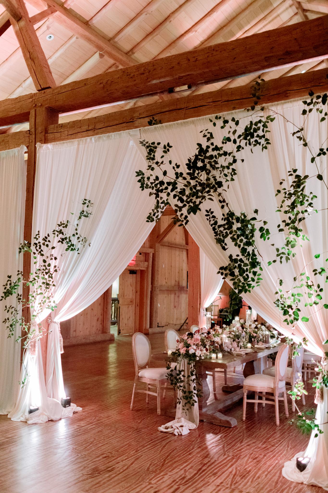 Devils-Thumb-Ranch-Tabernash-Colorado-Winter-Broad-Axe-Barn-Reception-LaRue-Florals-Grand-Entrance