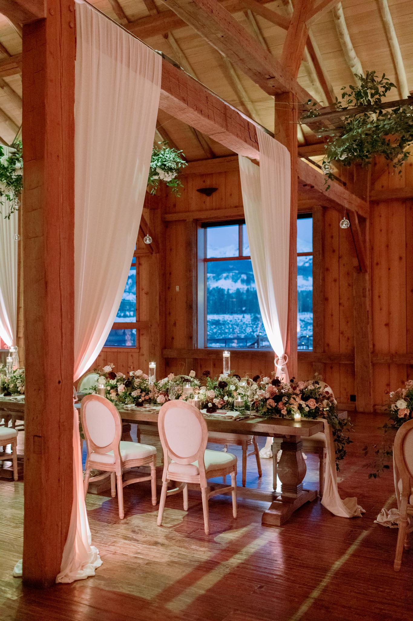 Devils-Thumb-Ranch-Tabernash-Colorado-Winter-Broad-Axe-Barn-Reception-at-Night