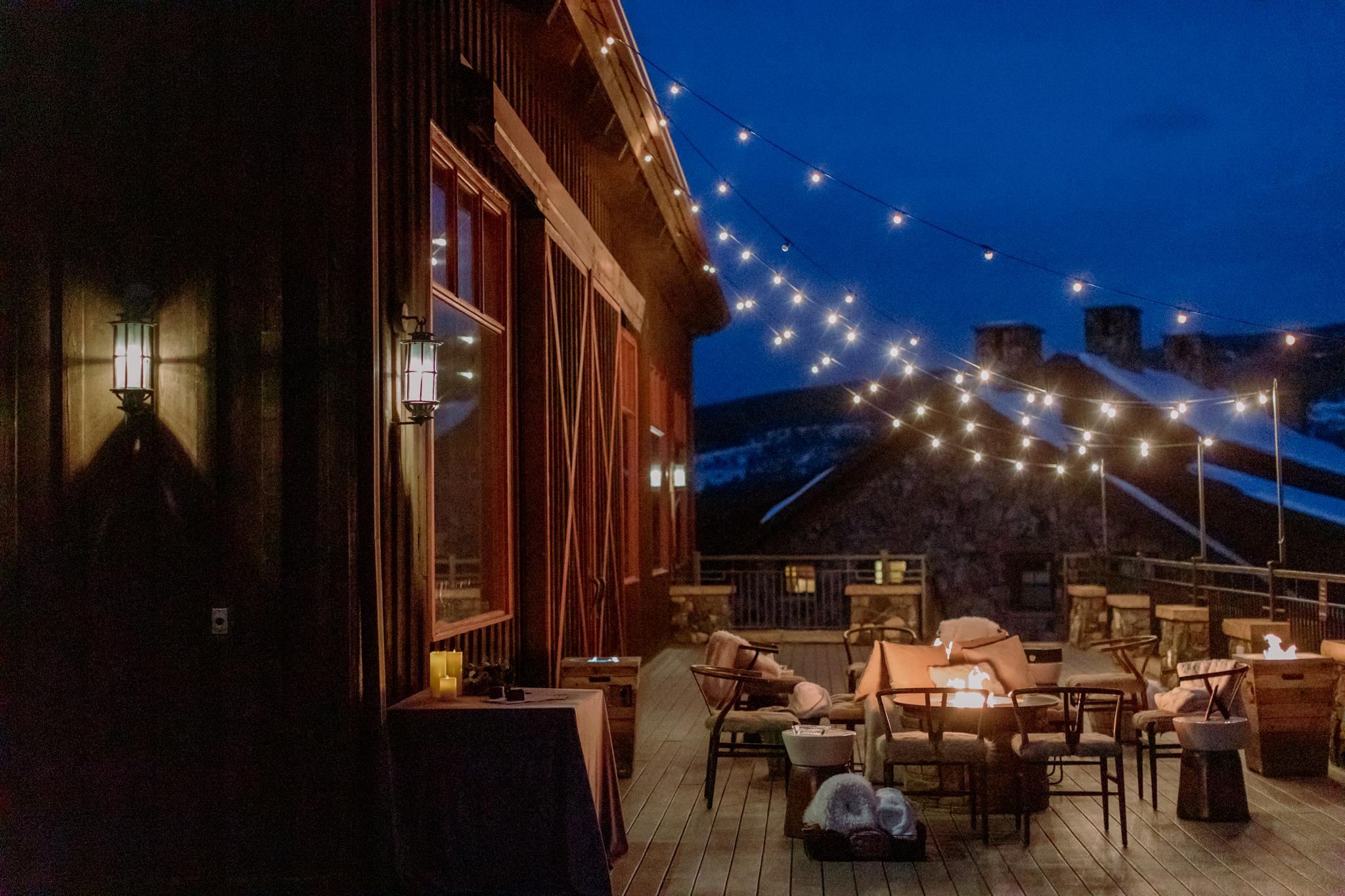 Devils-Thumb-Ranch-Tabernash-Colorado-Winter-Broad-Axe-Barn-Outdoor-Cigar-Lounge-at-Night