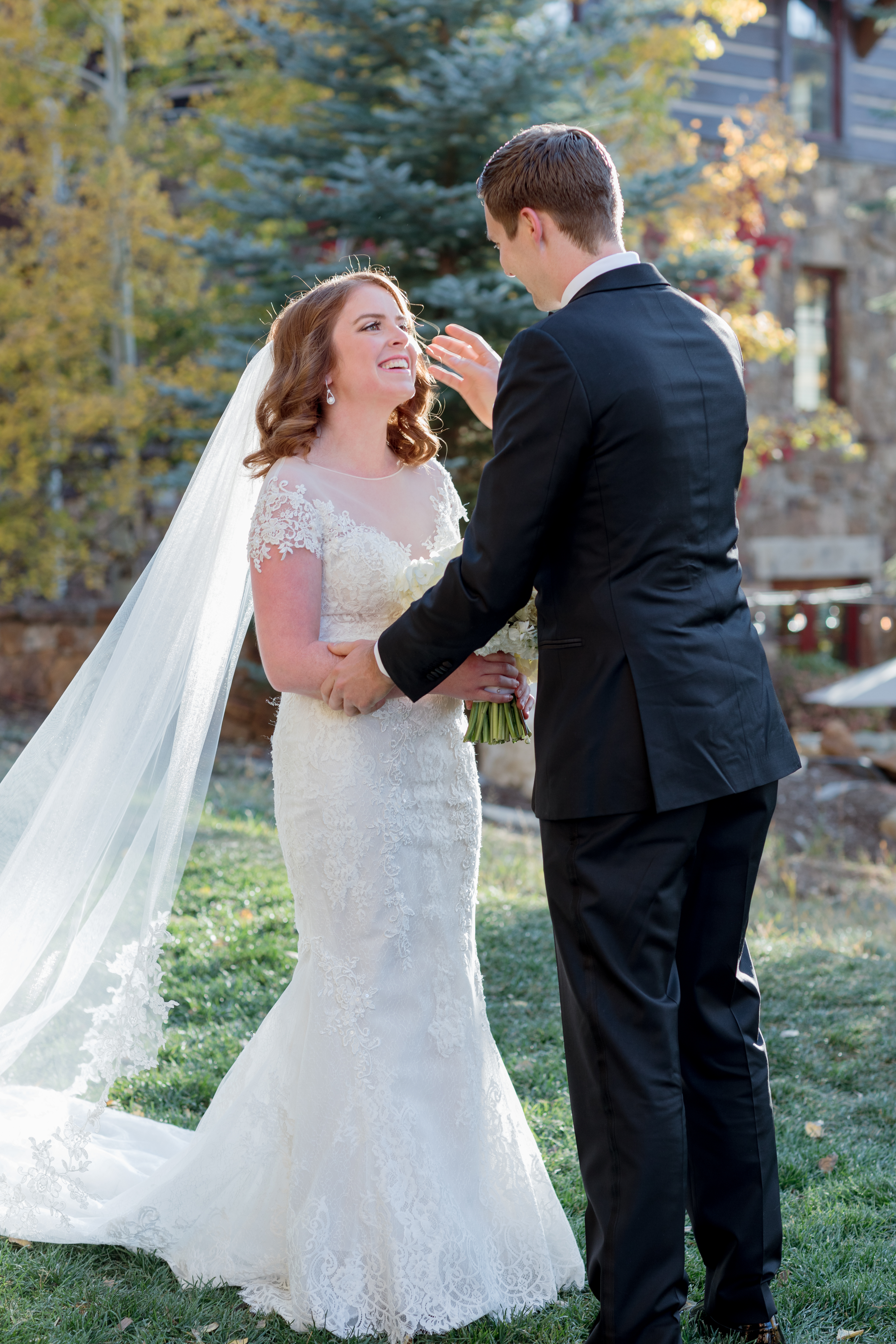 Ritz-Carlton-Bachelor-Gulch-Beaver-Creek-Colorado-Fall-Wedding-Bride-Groom-First-Look