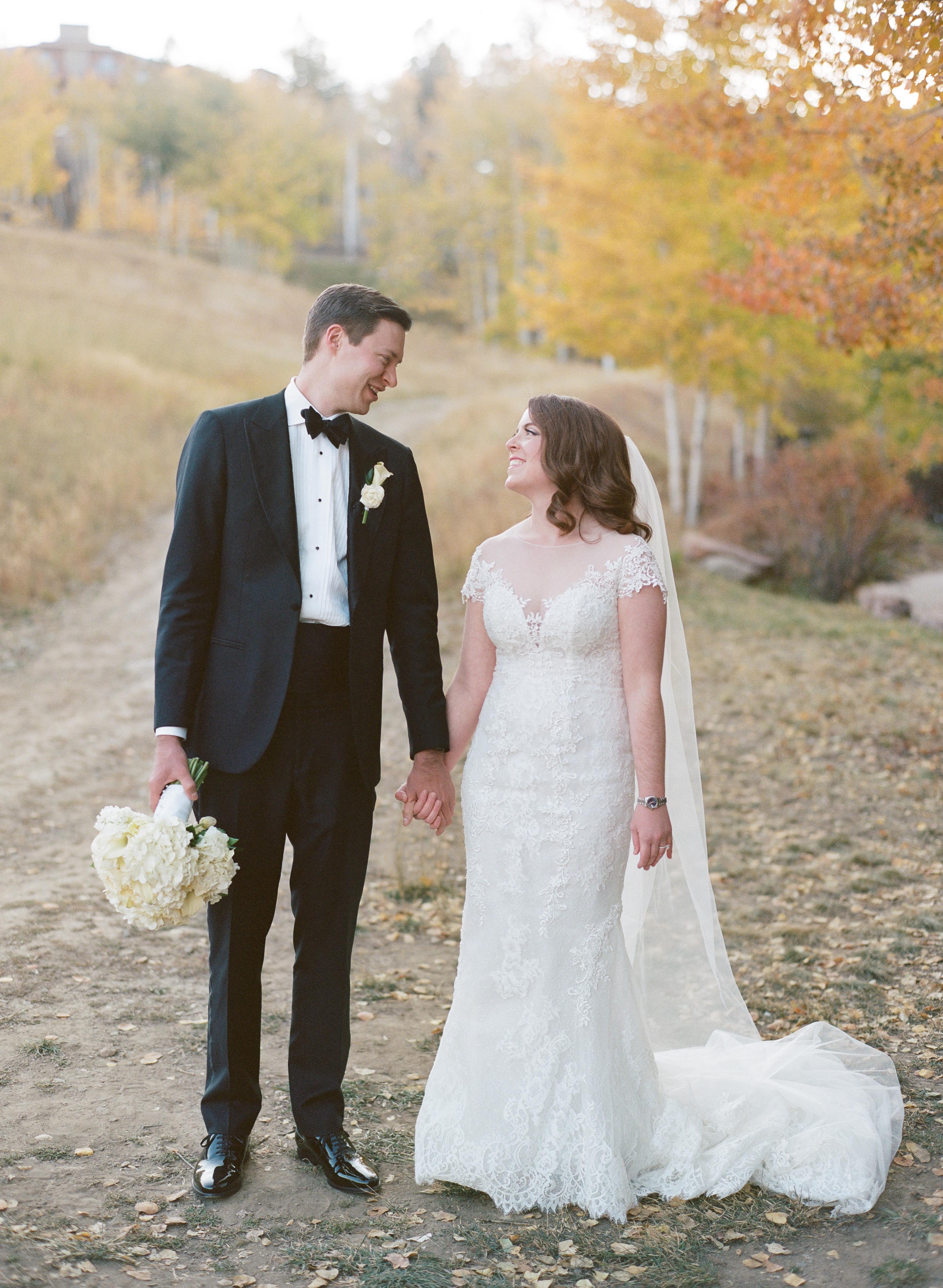 Ritz-Carlton-Bachelor-Gulch-Beaver-Creek-Colorado-Fall-Wedding-Bride-Groom-Yellow-Aspens