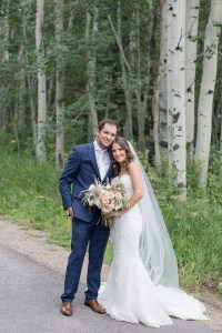 Couple lives in Denver gets married in Vail Colorado